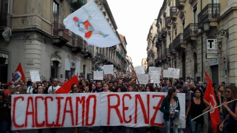 Foto da fb Cacciamo Renzi e tutta la cricca