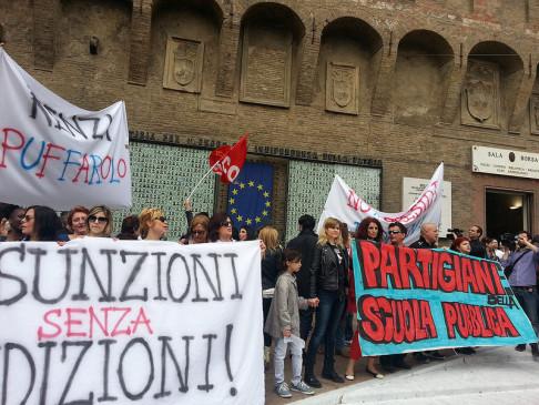 Sciopero scuola (foto Zic.it)