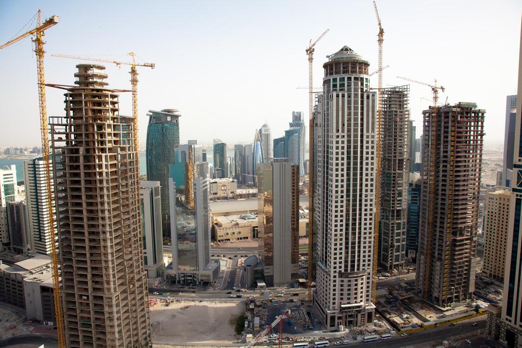 Cantieri in Qatar (foto Omar Chatriwala)