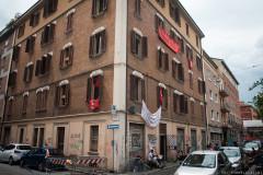Occupazione via Mura di Porta Galliera - © Michele Lapini