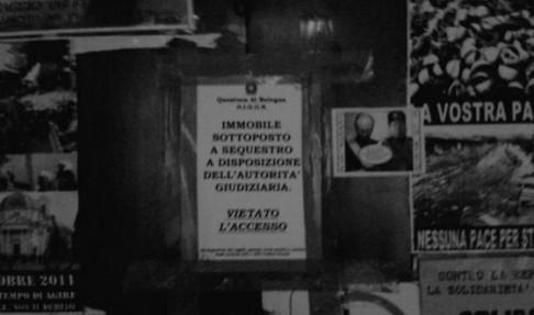 Aula C sequestata (foto twitter @Revolweb)