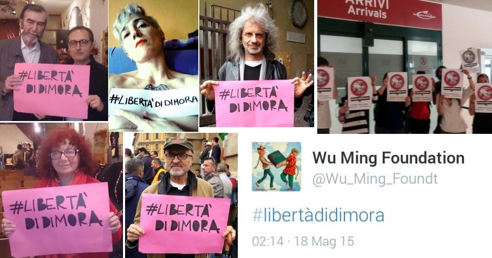 Foto da Fb #Libertà di Dimora