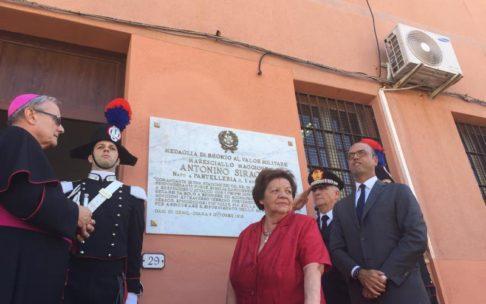 Pantelleria, Alfano alla cerimonia di intitolazione della caserma dei Carabinieri al mar. A. Siragusa (foto Ministero degli Interni)