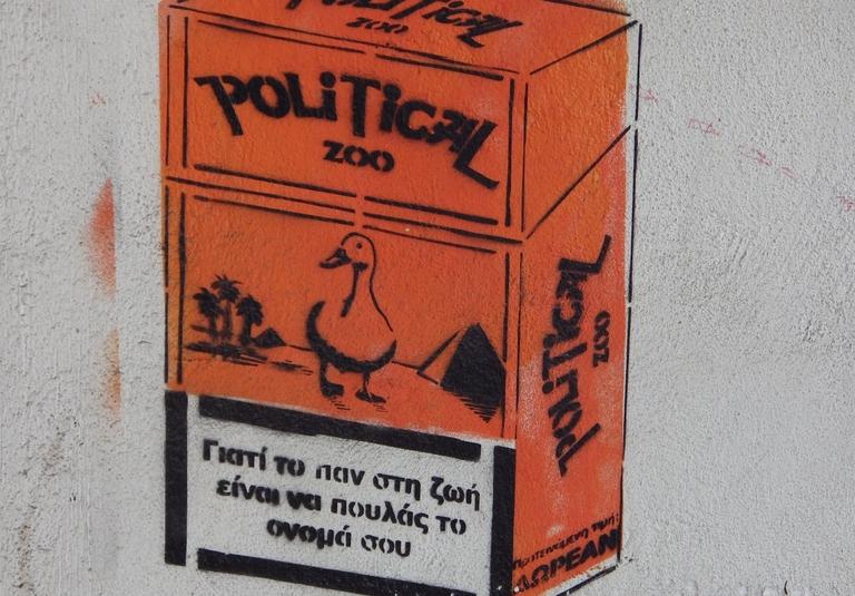 Political Zoo (foto scattata da Atene. da flickr aesthetics of crisis)